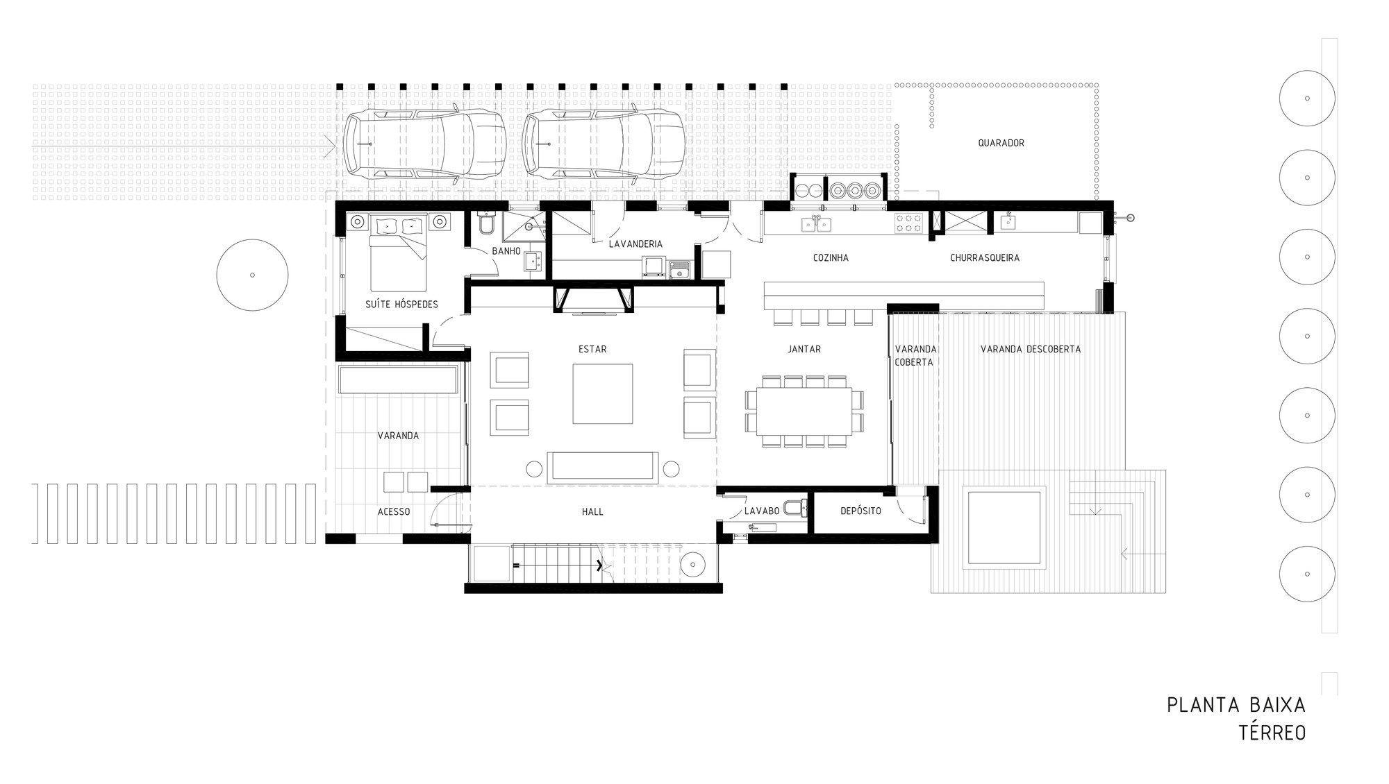 Plantas de casas projetos modelos com 80 fotos gr tis for Plantas de casa para interior