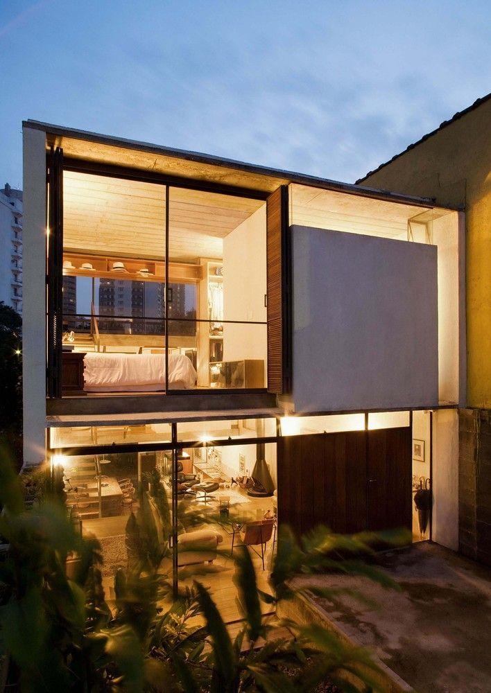 Casa de vidro.