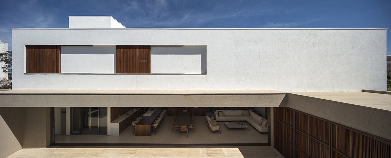 Planta de casa com arquitetura contemporânea.