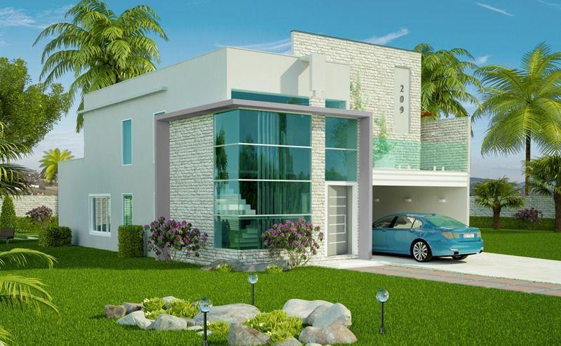 Plantas de casas projetos modelos com 80 fotos gr tis for Casa moderna gratis