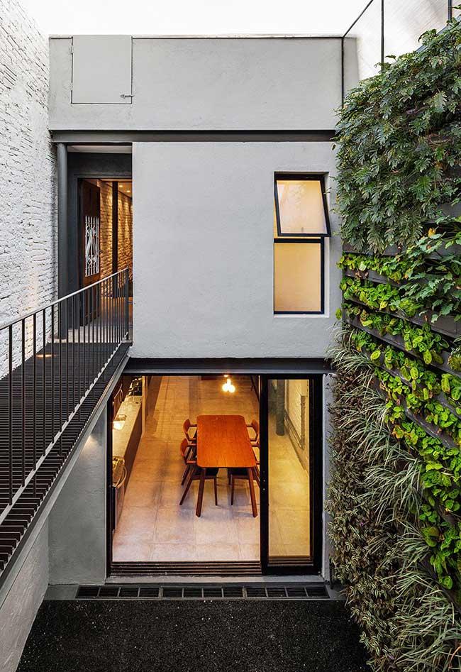 Planta de casa com arquitetura minimalista.
