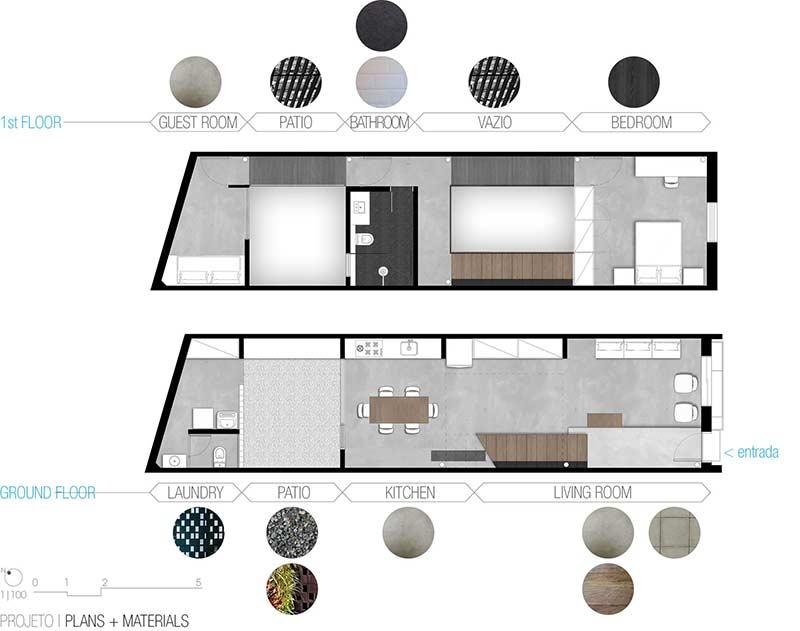 Plantas de casas projetos modelos com 80 fotos gr tis for Casa minimalista 80 metros