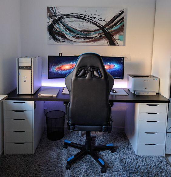 Quarto gamer 60 ideias e dicas incr veis para decorar for Geek living room ideas