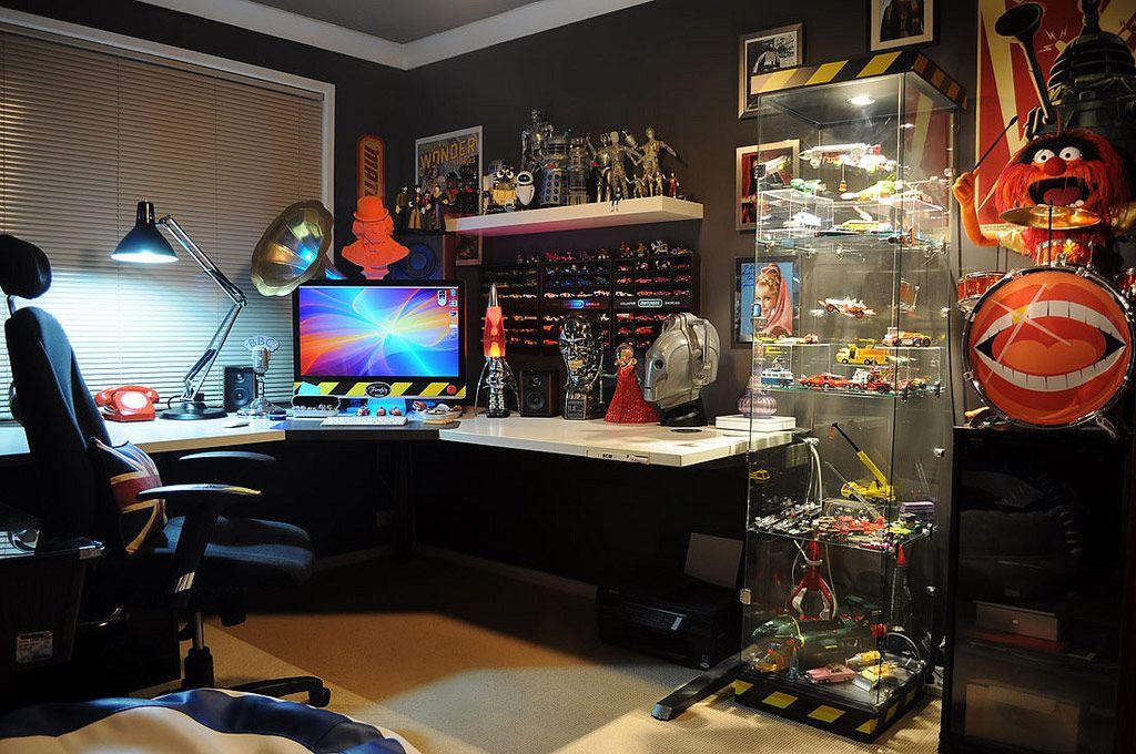 quarto gamer 60 ideias e dicas incr veis para decorar. Black Bedroom Furniture Sets. Home Design Ideas