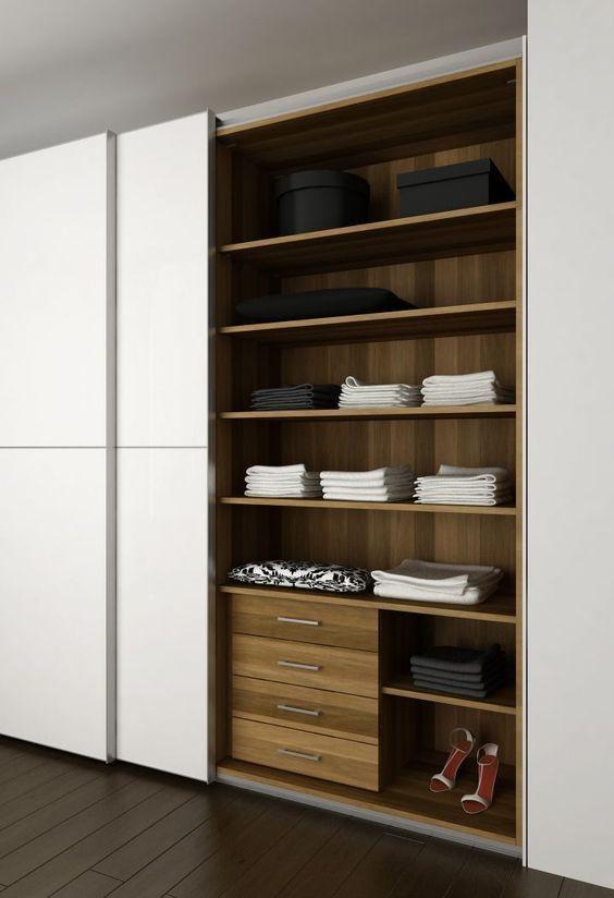 A organização interna é uma grande vantagem dos armários planejados