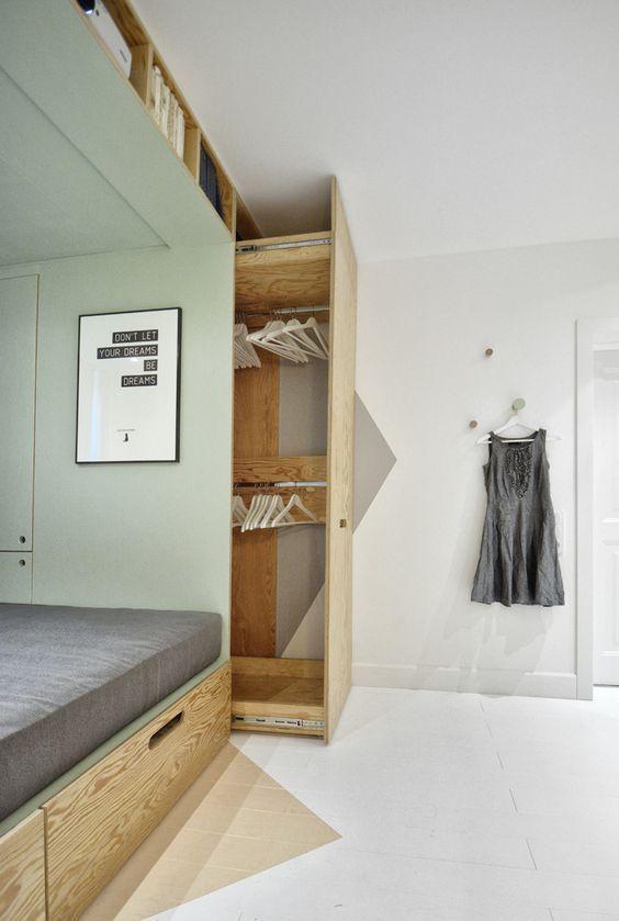 Otimize o espaço do seu quarto
