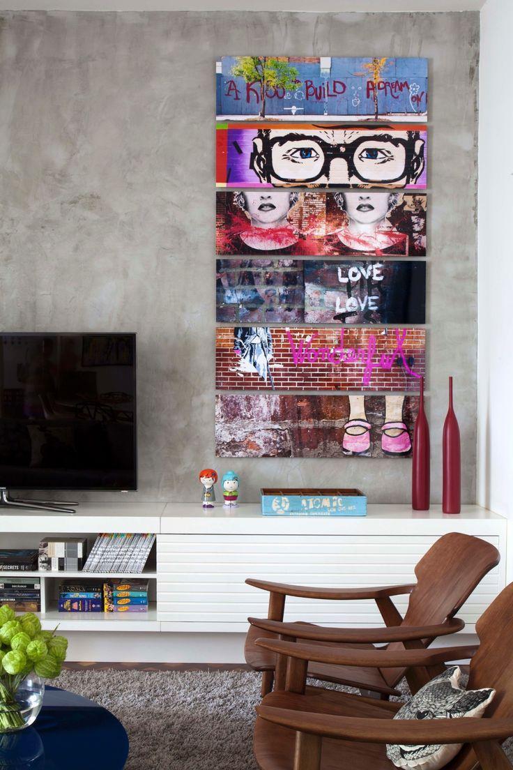 Quadros Coloridos 60 Modelos Incr Veis E Dicas  -> Quadro De Parede Para Sala