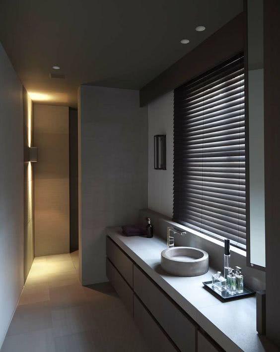 Cortina para banheiro 60 modelos e ideias para a janela for Estores de cocina modernos