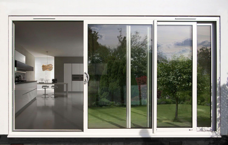 Porta de correr vantagens materiais e dicas com fotos for Puerta corrediza externa