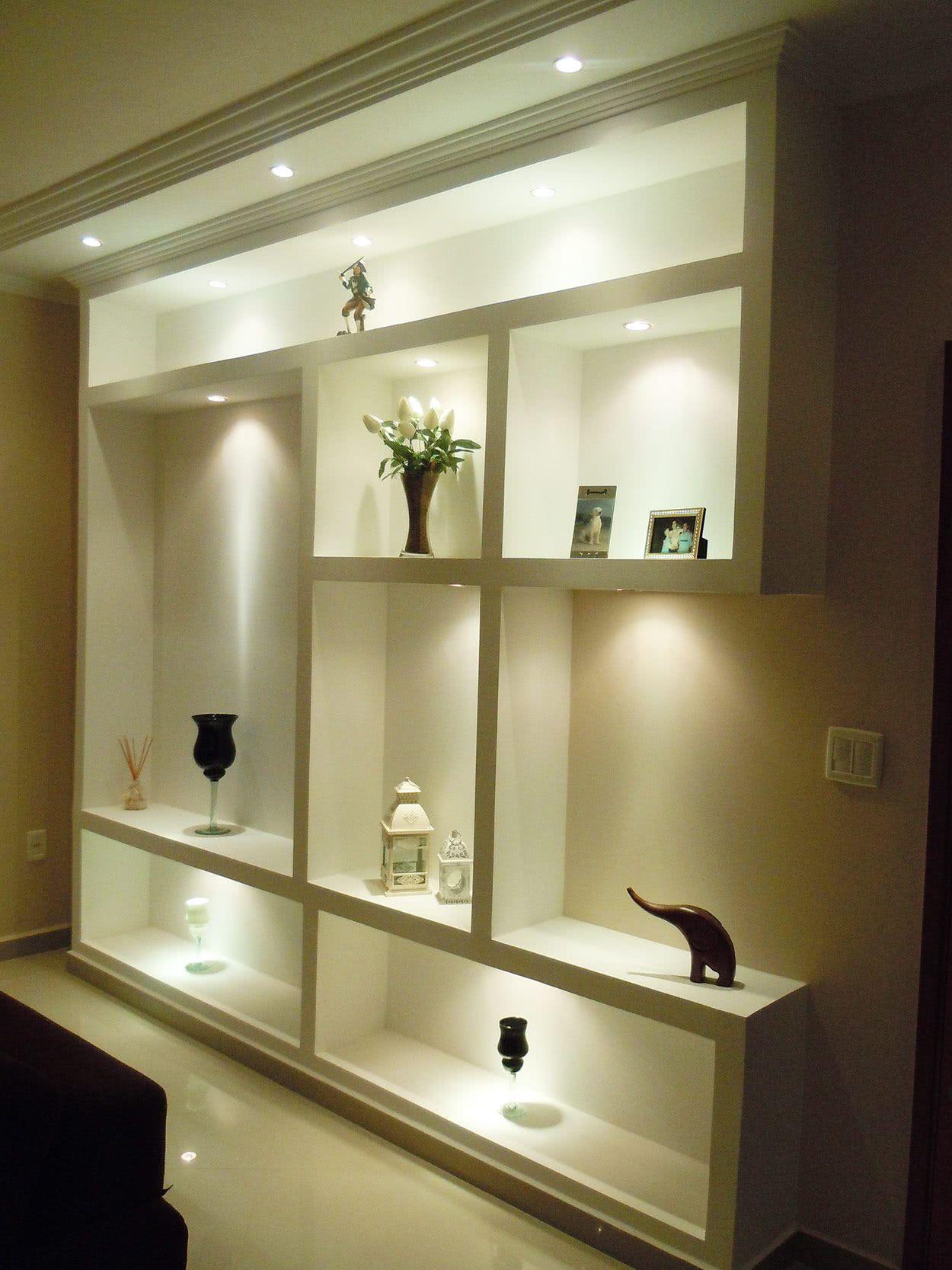 Sanca Gesso Sala 2 Ambientes Iluminao De Painel De Tv Na Sala De  -> Gesso Para Sala De Estar Pequena