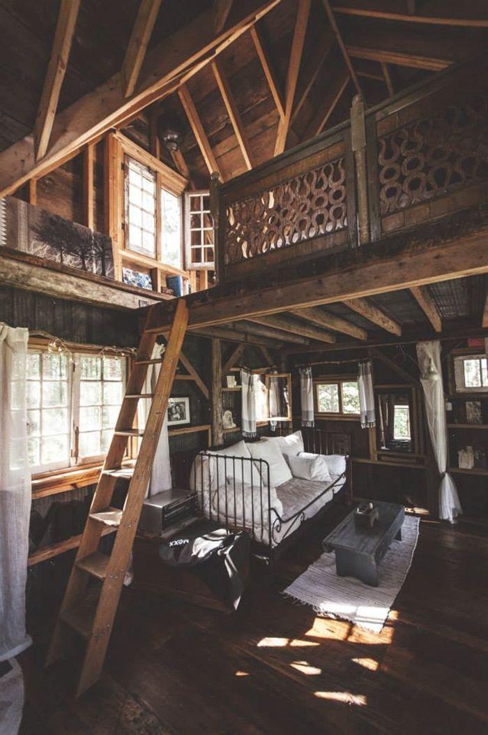 Casa construída em madeira