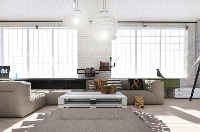 Decoração rústica minimalista e moderna