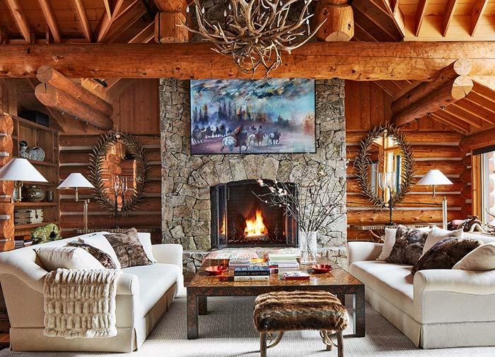 Inspiração de decoração rústica para uma casa de campo, fazenda ou chácara