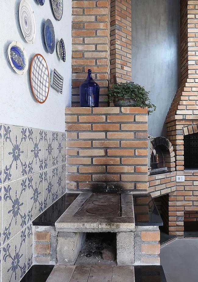 Azulejo português na varanda gourmet