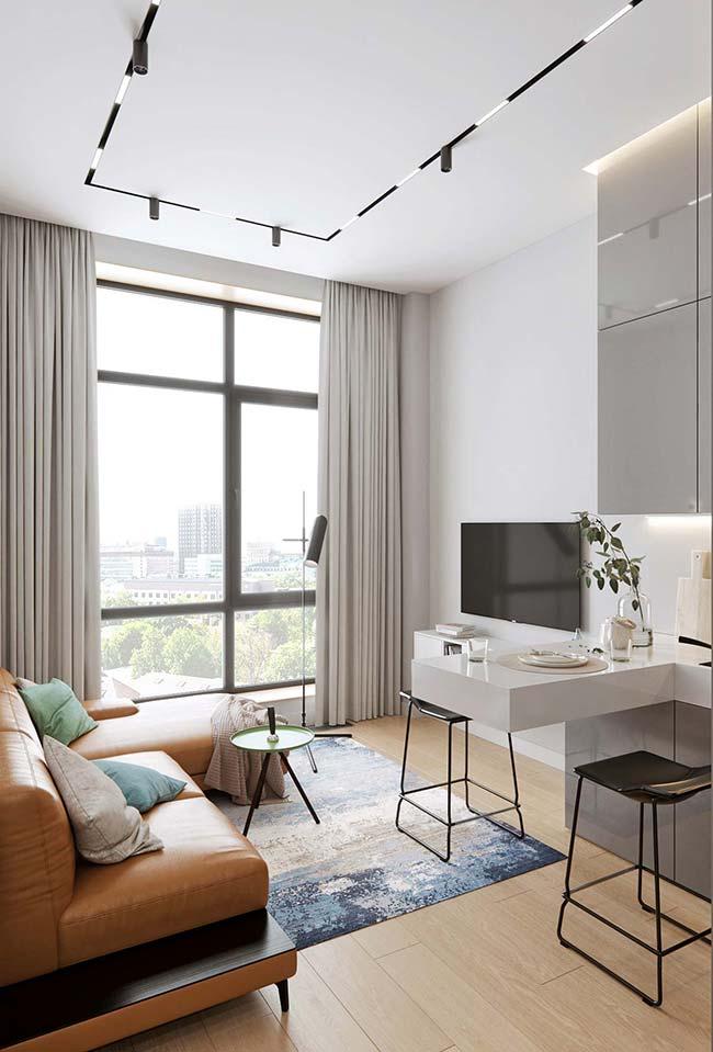 Modelo básico e simples de cortina para sala
