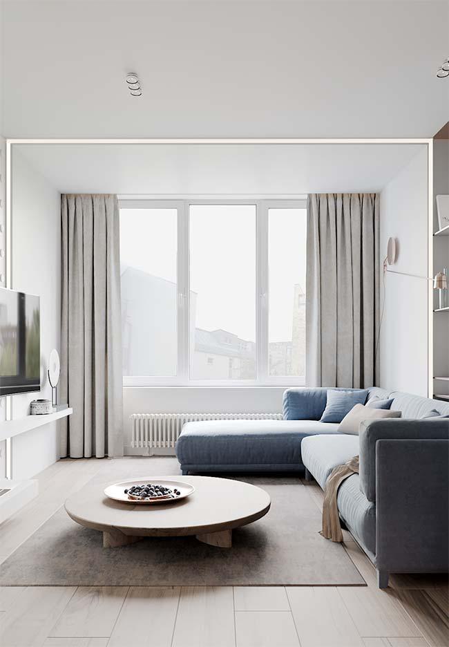 Cortina para sala: o cinza também é uma ótima opção de cor para cortinas de salas neutras e modernas