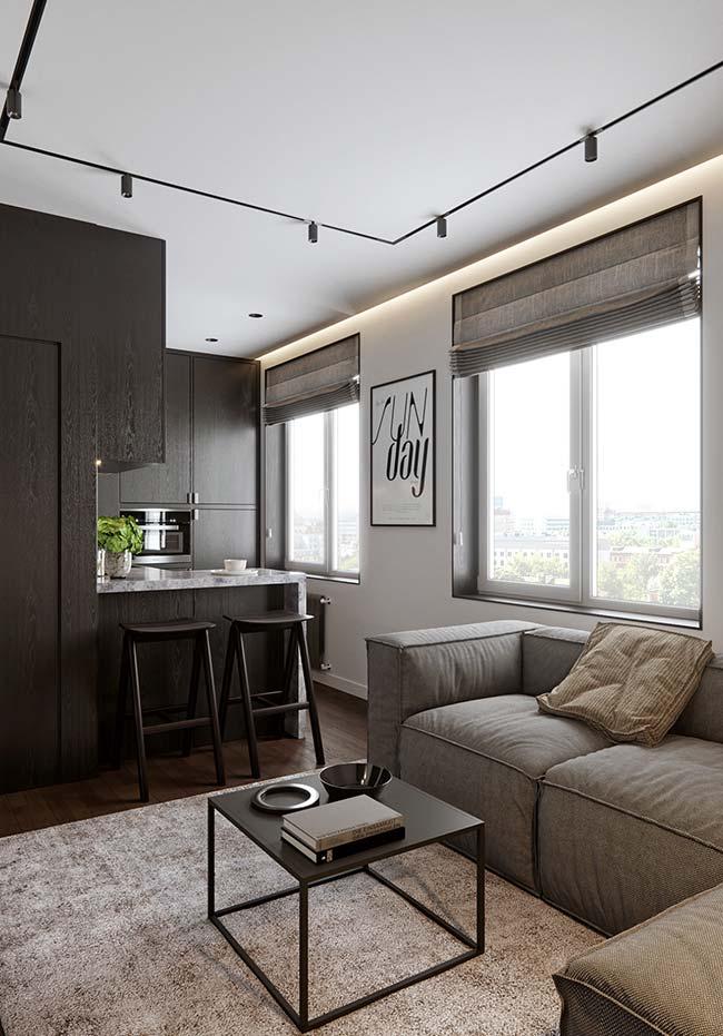 Cortina para sala: as persianas podem ser instaladas embutidas na janela, do tamanho exato da esquadria