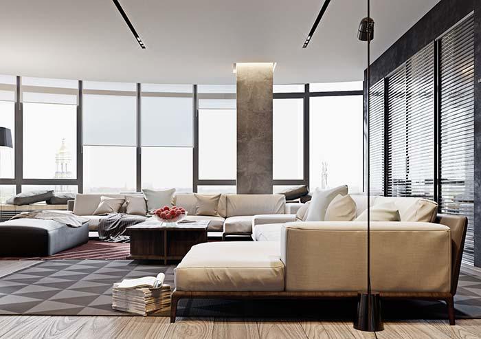 As persianas permitem controlar a entrada de luz individualmente