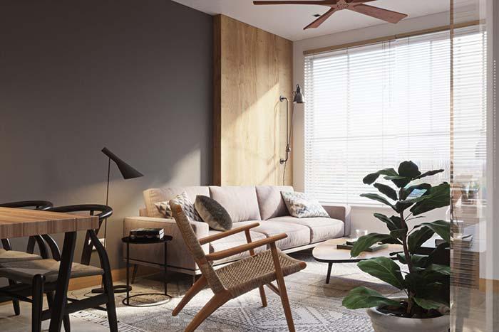 Se ficar na dúvida, invista em uma cortina ou persiana branca: a cor combina com tudo