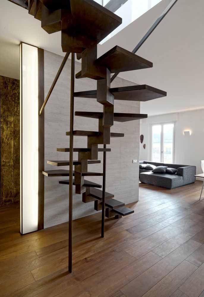 Desenho não regular para uma escada caracol