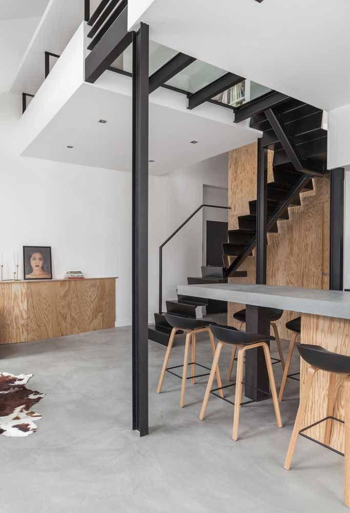 Faça uma combinação de móveis com paredes