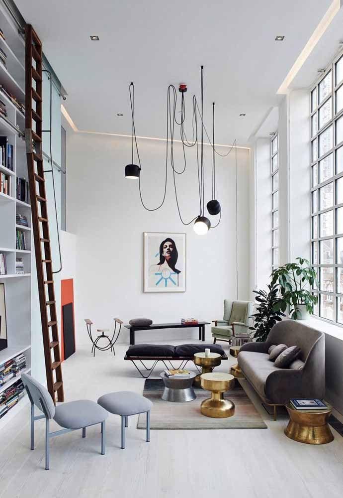 Em um loft a iluminação precisa ser valorizada