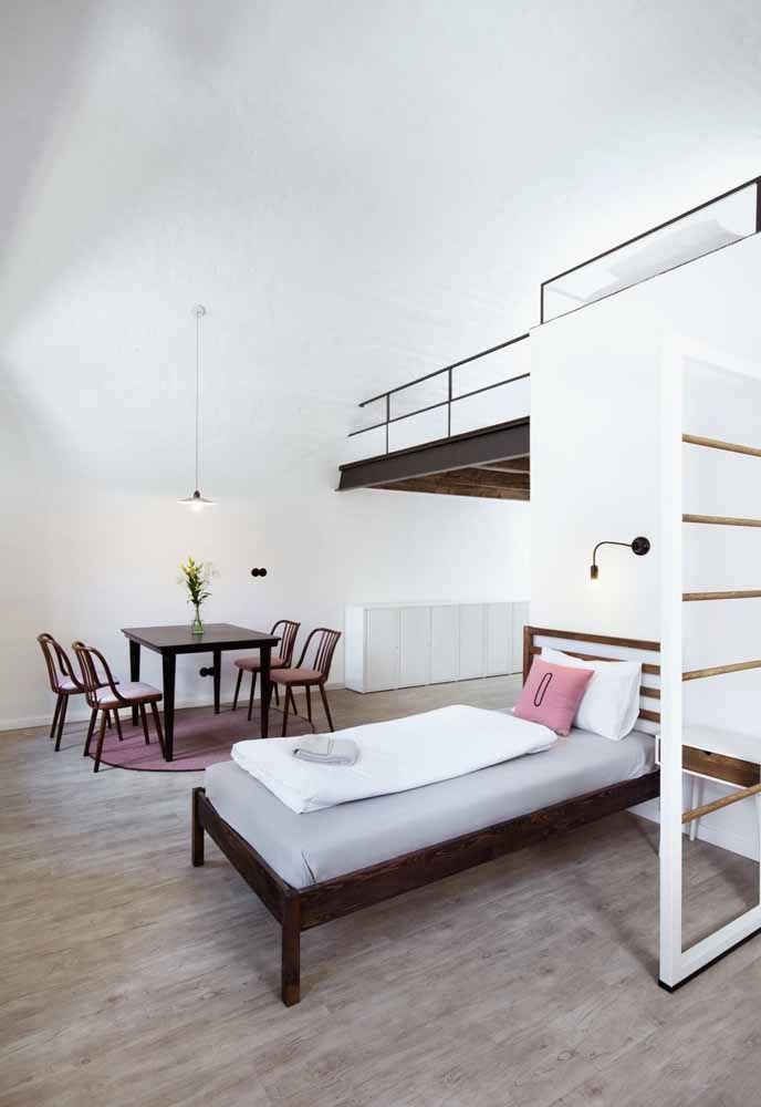 Aposte em um loft simples e barato