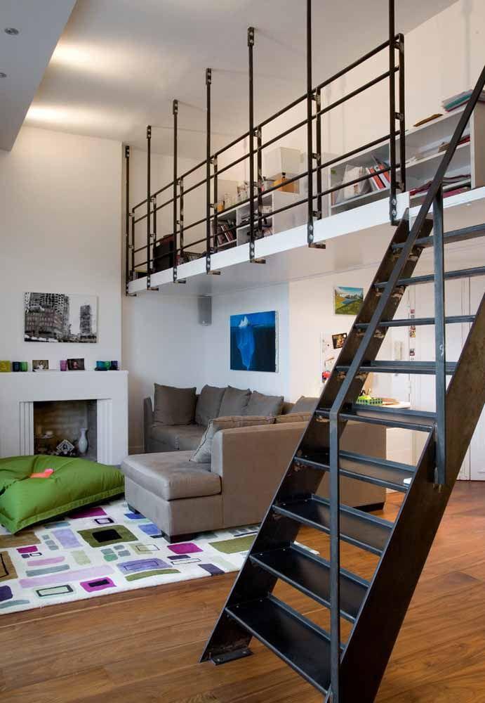 Um loft moderno e elegante