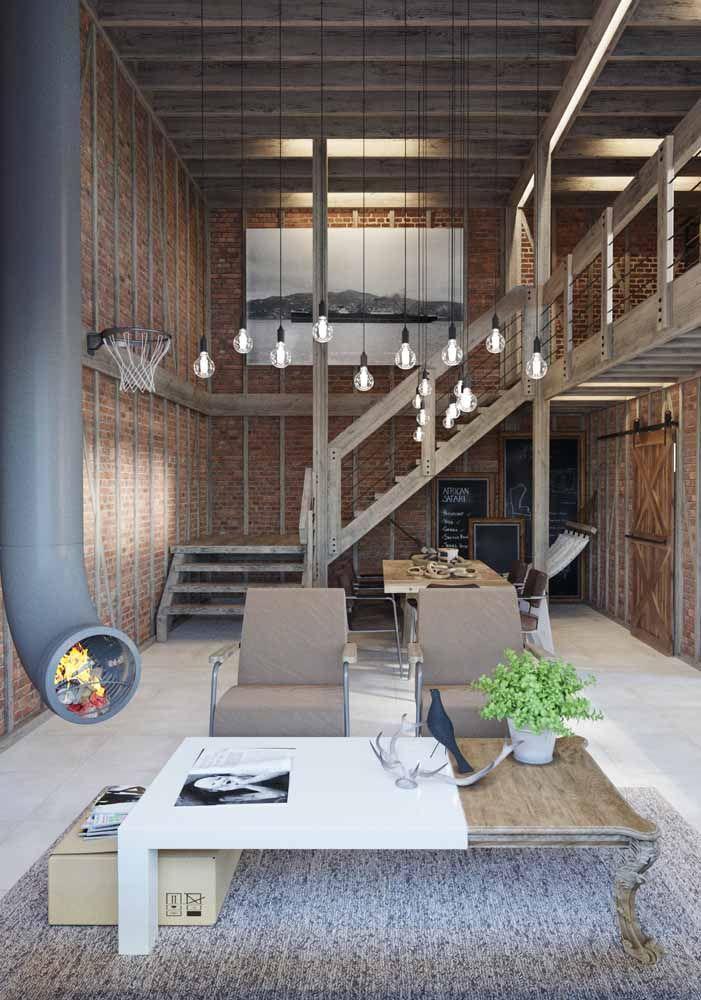 Investindo em alguns detalhes você consegue deixar um loft com uma decoração bem masculina