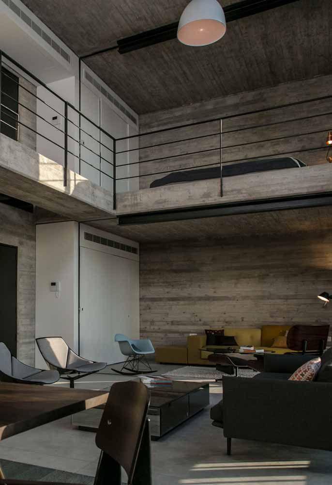 Além de moderno e sofisticado, este modelo de loft é totalmente masculino