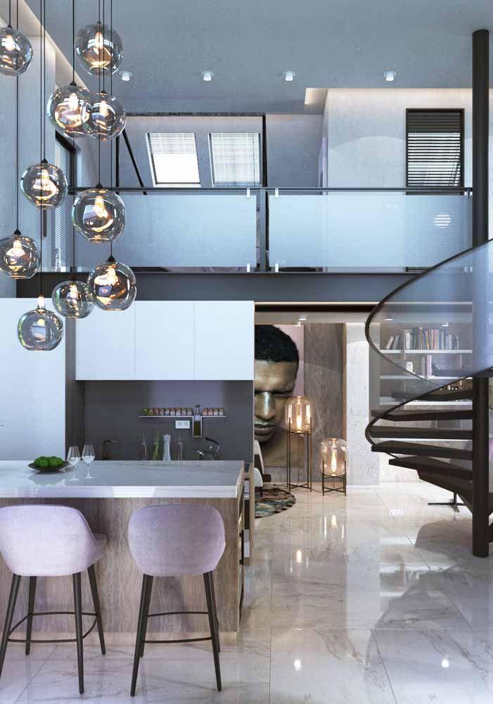 Itens e design moderno deixaram esse loft um luxo só