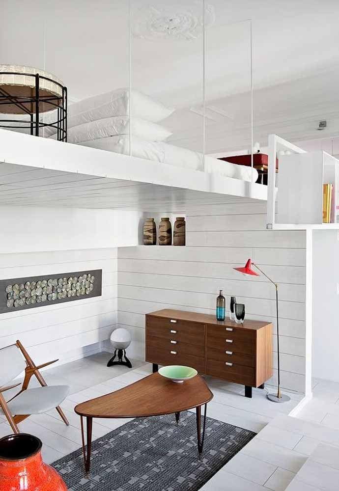 Objetos e móveis simples para compor um espaço pequeno