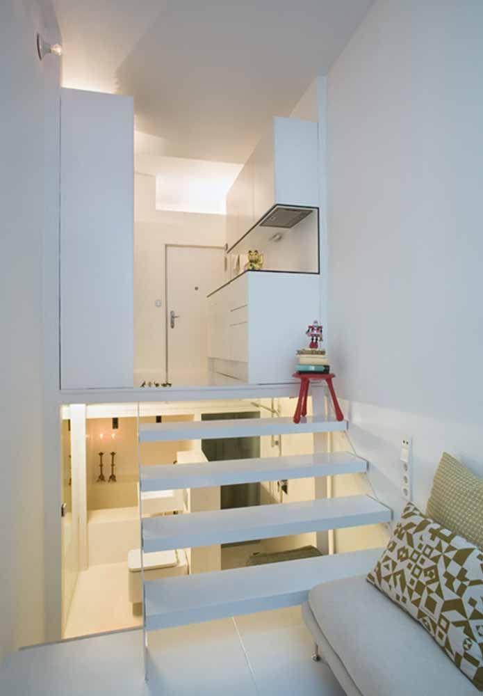 Divida os espaços em vários andares