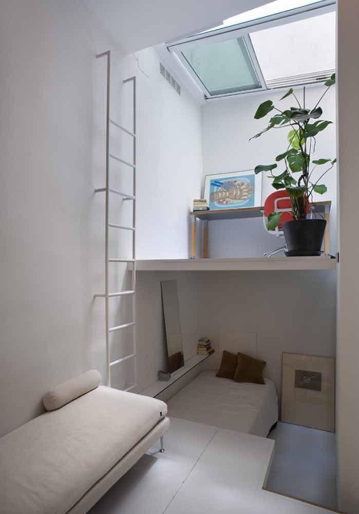 Loft minúsculo, mas super confortável