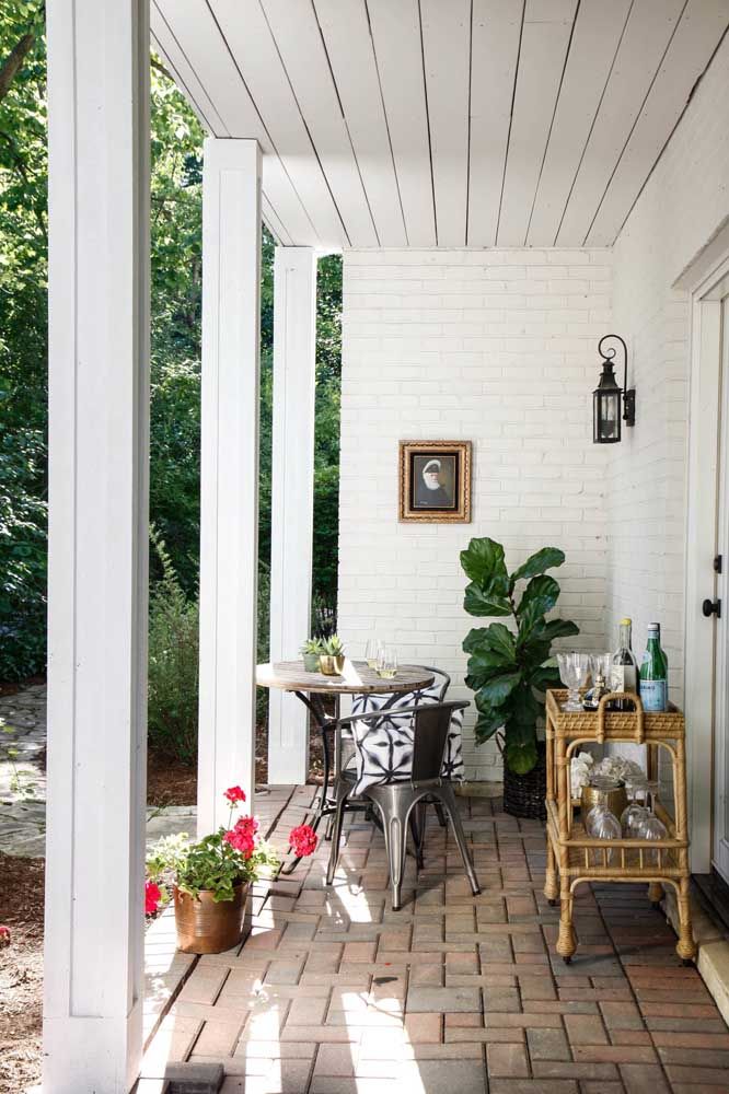 Arandela externa estilo colonial para a varanda rústica