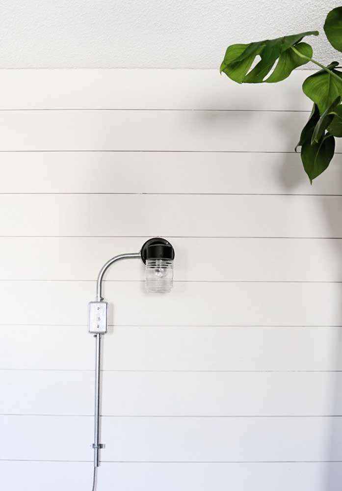Inspiração de arandela externa que pode ser usada em propostas de estilo moderno e / ou industrial