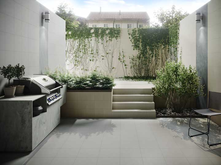 Arandelas externas para o jardim e espaço gourmet da casa; modelo simples, mas funcional