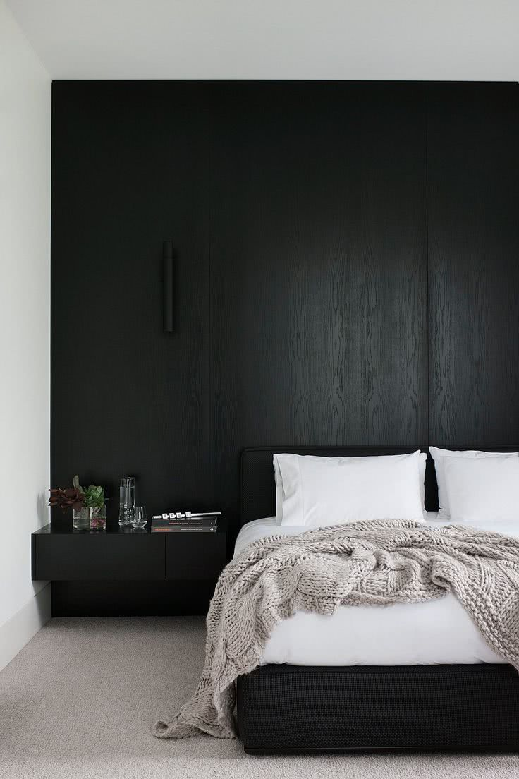 Decora o preto e branco 60 ideias para se inspirar for Black bedroom ideas pinterest
