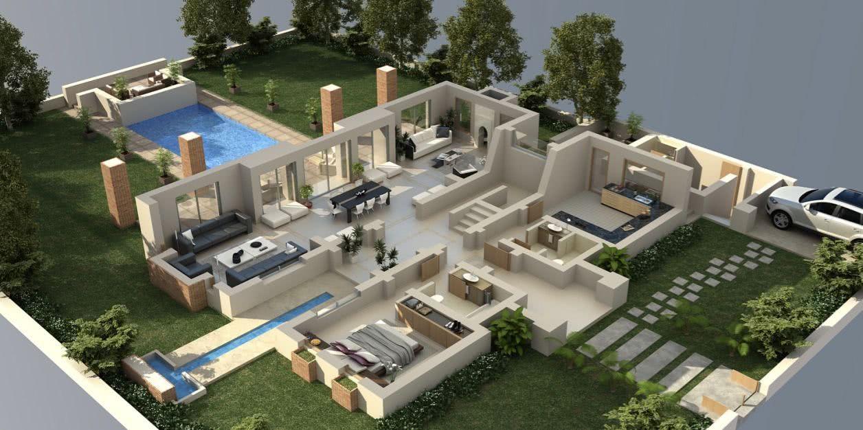 Casas estilo americano 65 projetos e fotos apaixonantes - Casas americanas por dentro ...