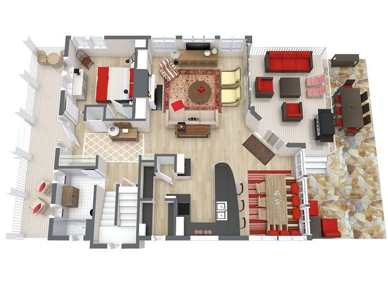 Casas estilo americano 65 projetos e fotos apaixonantes for 3d house design software online