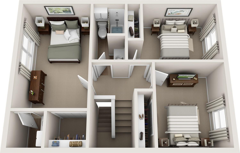 Small bathroom floorplans best free home design idea - Casas estilo americano ...