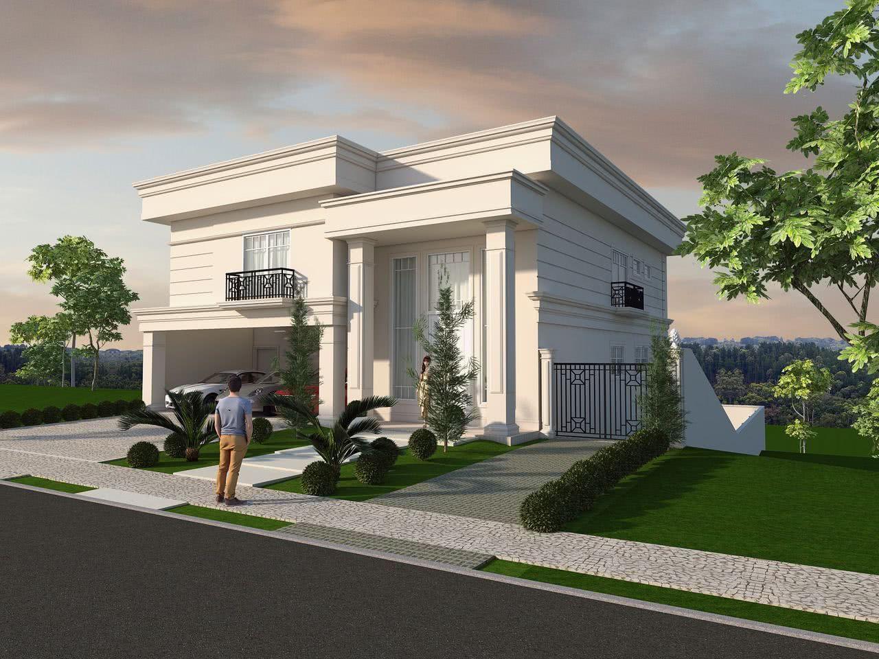 Casas estilo americano 65 projetos e fotos apaixonantes for Fachada de casas modernas estilo oriental