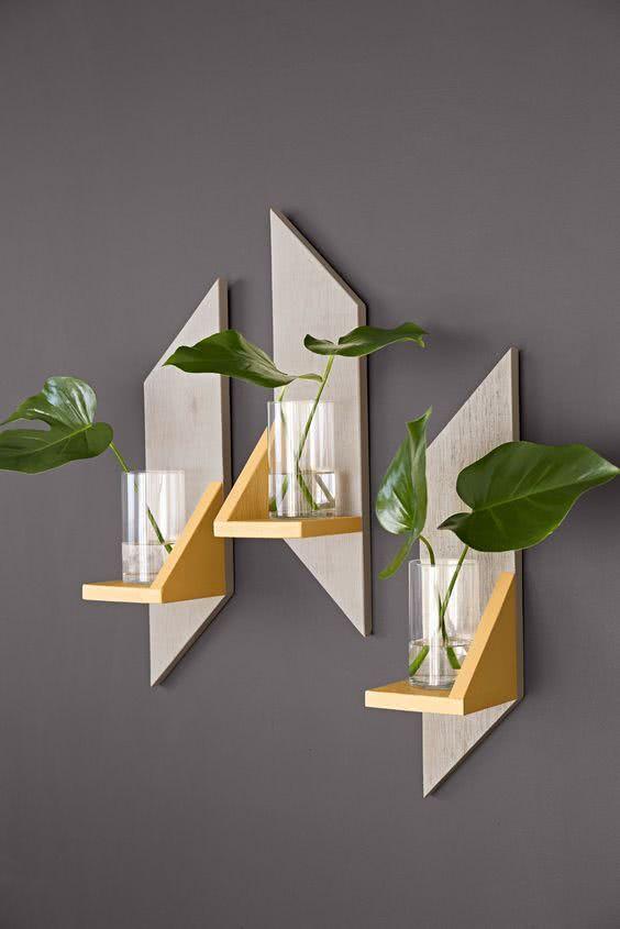 Prateleiras criativas 60 ideias modernas e tutoriais diy - Repisas de pared modernas ...