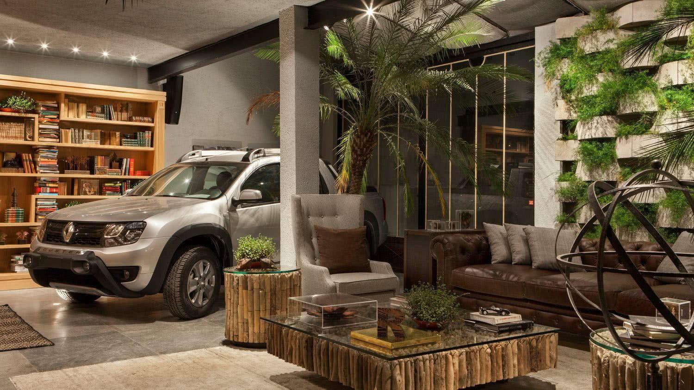 Solução para garagem integrada ao lounge