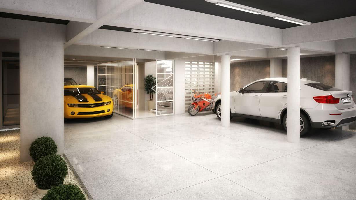 A peça com padronagem maior é ideal para garagens amplas