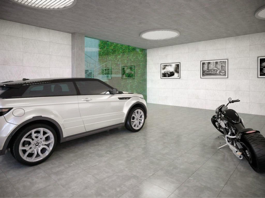 Cerâmica simples para garagem