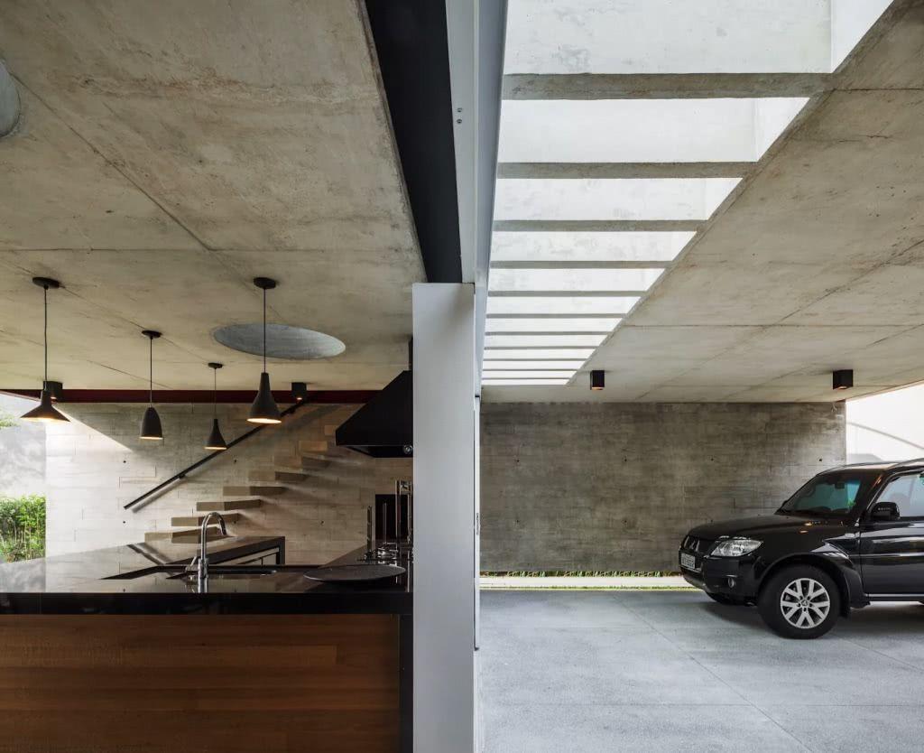 Piso de concreto para garagem