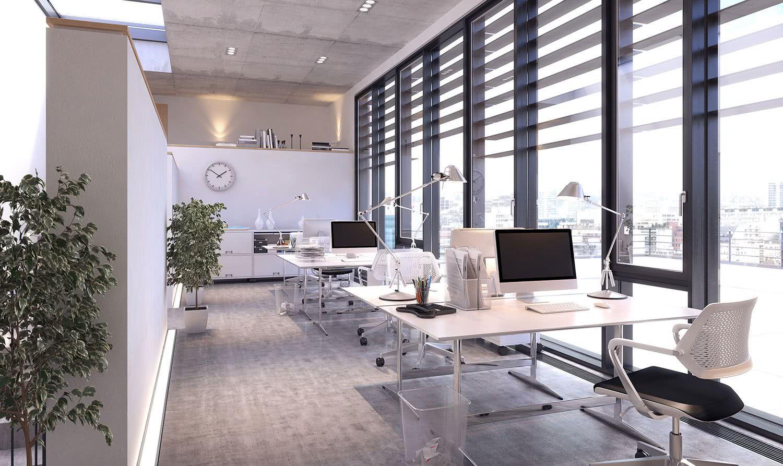 Projeto de iluminação para escritório corporativo