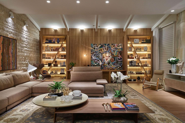 Iluminação intimista para a sala de estar
