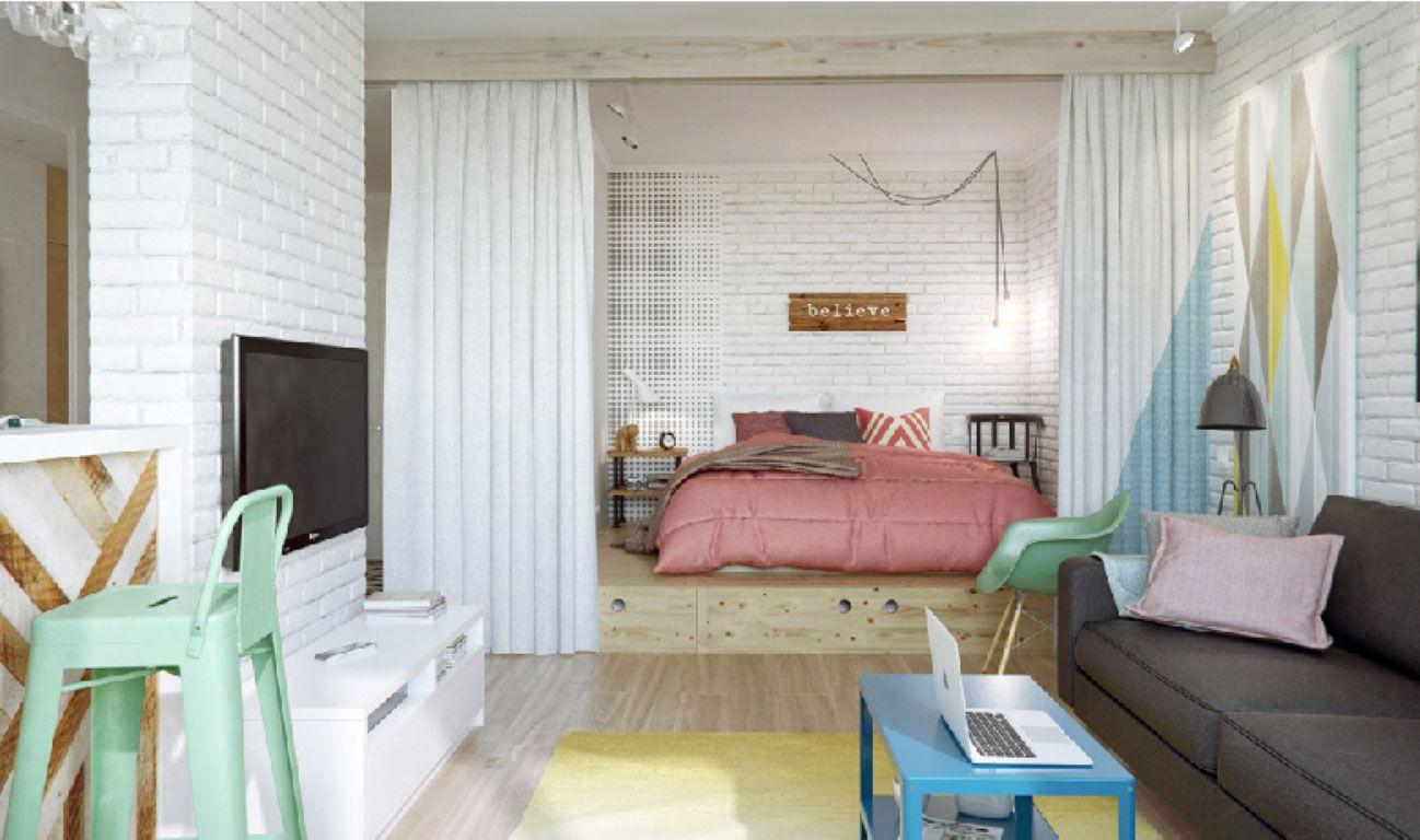 Apartamento pequeno com decoração jovial